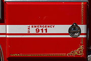 Fire Fighters Prints - Kensington Fire District Fire Engine . 7D15866 Print by Wingsdomain Art and Photography