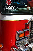 Fire Fighters Prints - Kensington Fire District Fire Engine . 7D15881 Print by Wingsdomain Art and Photography