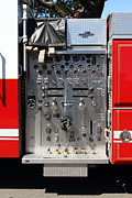 Fighters Photos - Kensington Fire District Fire Engine Control Panel . 7D15856 by Wingsdomain Art and Photography