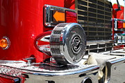 Trucks Photo Prints - Kensington Fire District Fire Engine Siren . 7D15879 Print by Wingsdomain Art and Photography