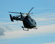 Helicopters Prints - Kent air ambulance Print by Sharon Lisa Clarke