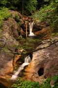 Moving Water Prints - Kent Falls Double Cascades Print by Thomas Schoeller