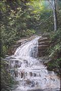 Waterfall Pastels Originals - Kent Falls by Jack Skinner