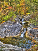 Abstract Water Fall Framed Prints - Kent Falls Framed Print by Paul Wear