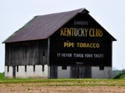 Old Barns Digital Art Acrylic Prints - Kentucky Club Pipe Tobacco Barn Acrylic Print by Robert Habermehl
