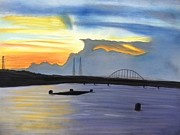 Kentucky Pastels - Kentucky Dam Sunset by Lynette Brown
