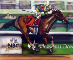 Horse Racing Framed Prints - Kentucky Derby Winner Street Sense Framed Print by Dave Olsen
