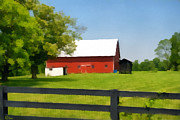 Shed Painting Posters - Kentucky Farmstead Poster by Anne Kitzman
