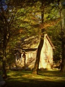 Cabin Wall Posters - Kentucky Log Cabin Poster by Cindy Wright