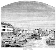 American City Prints - Kentucky: Louisville, 1870 Print by Granger