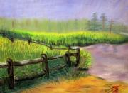 Kentucky Pastels - Kentucky Morning Mist by Arlene  Wright-Correll