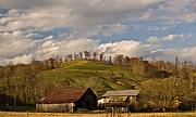 Shed Prints - Kentucky Mountain Farmland Print by Douglas Barnett