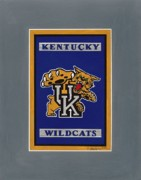 Wildcats Painting Framed Prints - Kentucky Wildcats Logo Framed Print by Herb Strobino