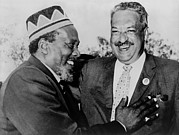 Race Discrimination Posters - Kenya Premier Jomo Kenyatta With Us Poster by Everett