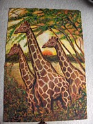 Maasai Painting Originals - Kenyan Wildlife by Kimani Kahugu