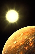 Exoplanet Photos - Kepler-10b Exoplanet, Artwork by Richard Bizley