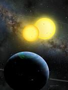 Kepler-35 Print by Lynette Cook