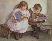 Kid Painting Posters - Kept in Poster by John Henry Henshall