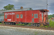 Old Caboose Posters - Kernersville Red Caboose Poster by Photo Enrichments