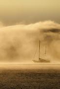 Ketch In Mist Print by Sheila Smart