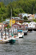 Port Town Photo Framed Prints - Ketchikan Alaska Framed Print by Sophie Vigneault