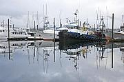 Trawler Metal Prints - Ketchikans Harbor Metal Print by Tim Grams