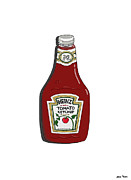 Heinz Tomato Ketchup Posters - Ketchup Poster by George Pedro