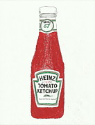 Ketchup Framed Prints - Ketchup Number 1 Framed Print by Jasmine Norris