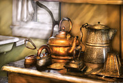 Oven Prints - Kettle - Tea pots and Irons Print by Mike Savad