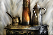 Stove Photos - Kettle - The Kettle and Stove by Mike Savad