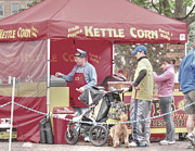 Town Square Prints - Kettle Corn Print by David Bearden