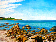 Cape Cod Paintings - Kettle Cove by Tom Roderick