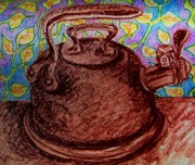 Tea Pot Drawings Prints - Kettle Design Print by Emily Michaud