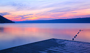 Finger Lakes Framed Prints - Keuka At Dawn  Framed Print by Steven Ainsworth