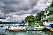 Storm Greeting Cards Posters - Keuka Lake Shoreline Poster by Steven Ainsworth