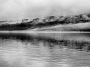 Grey Clouds Prints - Keuka Mists Print by Joshua House
