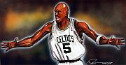 Nba Metal Prints - Kevin Garnett Metal Print by Dave Olsen