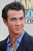 Kristin Callahan Photo Framed Prints - Kevin Jonas At Arrivals For Camp Rock 2 Framed Print by Everett