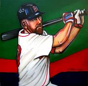 Red Sox Framed Prints - Kevin Youkilis Framed Print by Dave Olsen