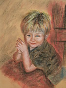 Old Barn Drawing Pastels Prints - Kevins Secret Print by Penny Ross