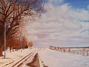 Tom Faires Paintings - Kew Beach Dec2007 by Thomas Faires