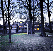 Empty House Photos - Kew Park at dusk by Elena Elisseeva