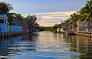 Moorings Prints - Key Largo Canal Print by Chris Thaxter