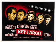 Films By John Huston Framed Prints - Key Largo, Humphrey Bogart, Edward G Framed Print by Everett