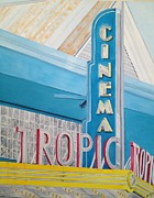John Schuller Art Framed Prints - Key West - Tropic Cinema Framed Print by John Schuller