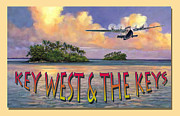 Key West Paintings - Key West Air Force by David  Van Hulst