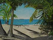 Key West Paintings - Key West Clearing by John Schuller