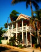 Florida House Photo Metal Prints - Key West House Metal Print by Perry Webster