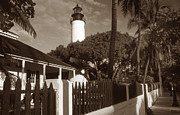 Lighthouse Wall Decor Framed Prints - Key West Lighthouse Framed Print by Skip Willits