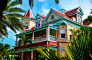 Most Digital Art Metal Prints - Key West Southern Most Hotel Metal Print by Bill Cannon